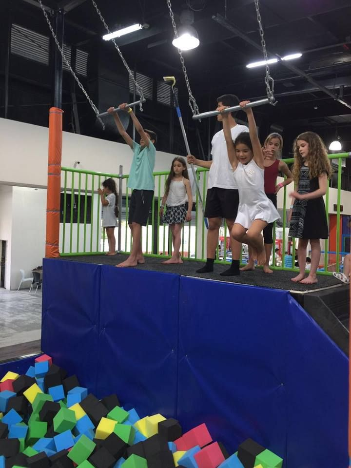 Hang Bars in trampoline park