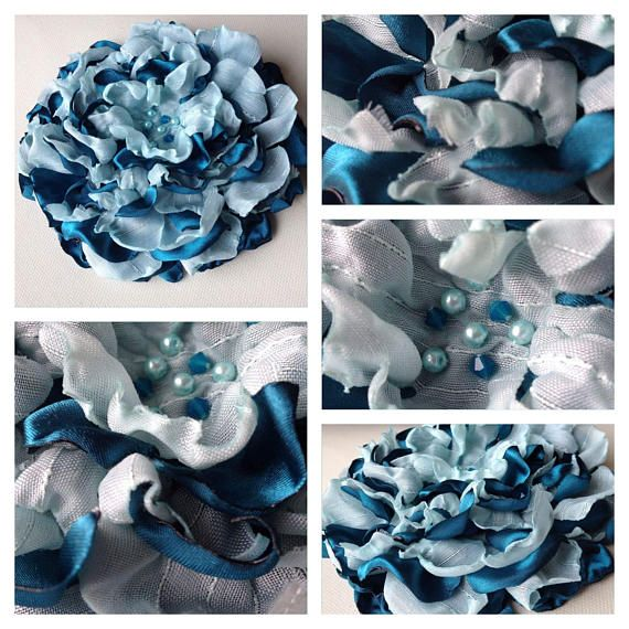 Check out this item in my Etsy shop https://www.etsy.com/ca/listing/546643918/organza-and-satin-handmade-flower-brooch