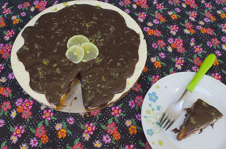 Receita de Torta Mousse de Limão com Brigadeiro
