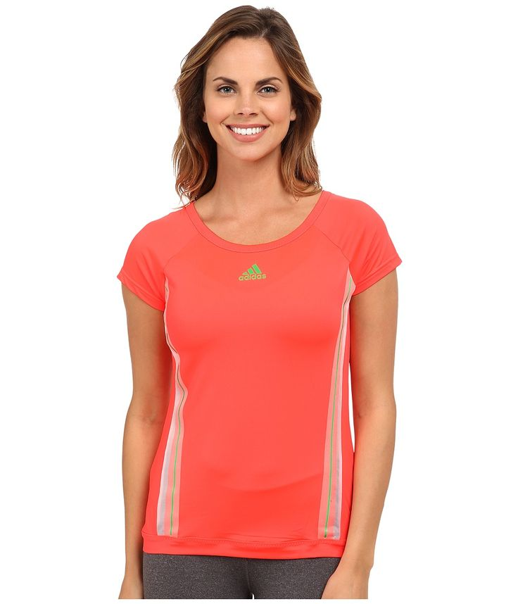adidas adizero womens tee light flash green