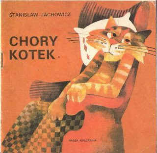 Chory kotek: Poland. A sick cat eats too much