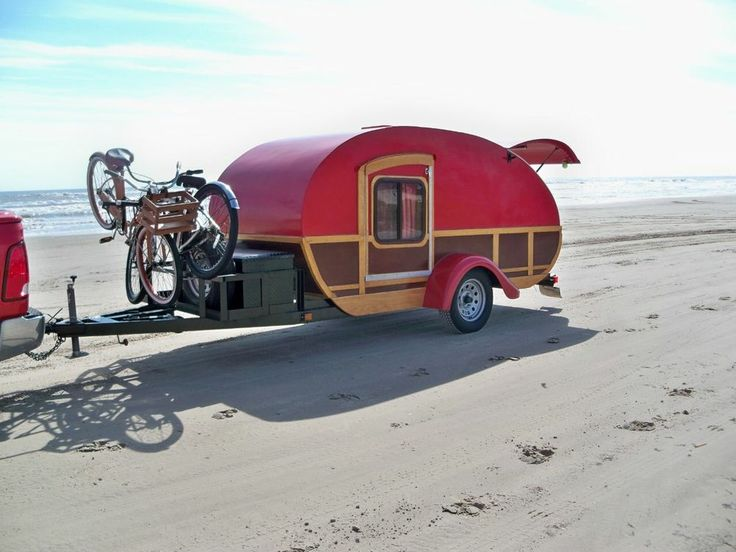 Red Woody Custom Built Teardrop Trailer 5' x 12'. Just posted (4/13/14)! It is great for family campouts and road trips!