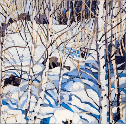 "Jennifer Irvine, Winter, Meribel, 12"" x 12"", limited edition print"