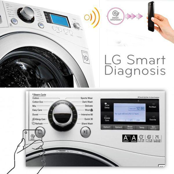 Problemas com a máquina de lavar? Com a LG Prime não! Uma máquina moderna com inteligência ''Smart Diagnosis'' que resolve problemas técnicos a partir de uma conexão via celular.  http://bloglge.com.br/2012/03/21/lg-prime-e-smart-diagnosis-simplificando-a-resolucao-de-problemas/