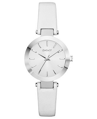 DKNY Watch, Women's White Leather Strap 28mm NY8782 - All Watches - Jewelry & Watches - Macy's
