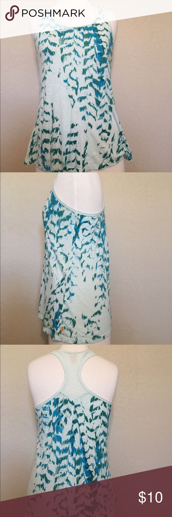 Lucy Small Teal Green Racer Back Tank Top Very comfy, sheer tank great for casual or athletic wear! Lucy Tops Tank Tops