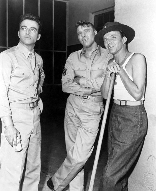 """montgomery clift, burt lancaster and frank sinatra - """"from here to eternity"""""""