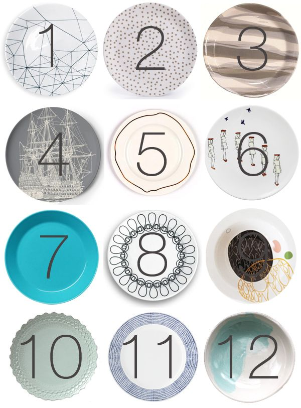 Modern dinner plates perfect for your modern holiday dinner parties. 12 of our favorite modern ones of the year...via 2Modern.