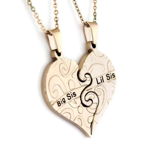 This Sister Heart Necklace Set is created to be a symbol of love between two sisters. It is meant to always remind them about each other. The chic style of the set makes it very attractive.