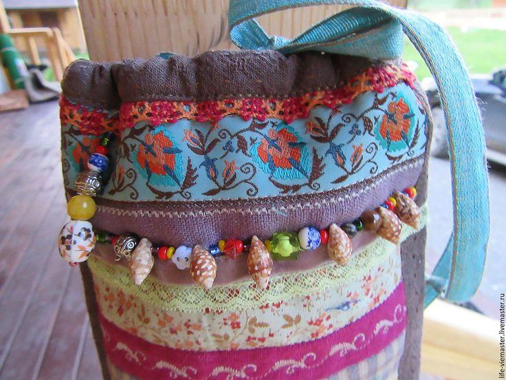 """Купить Детская сумочка""""Терем -теремок"""" - комбинированный, в полоску, лен, хлопок, пэчворк, квилтинг, детская сумочка"""