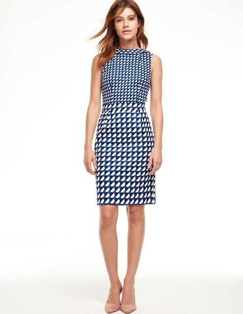 Small and smaller geometric print dress   NYC Recessionista