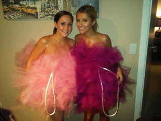 Loofah Halloween Costumes! You and Audrey should have gone as shower loofahs! ha