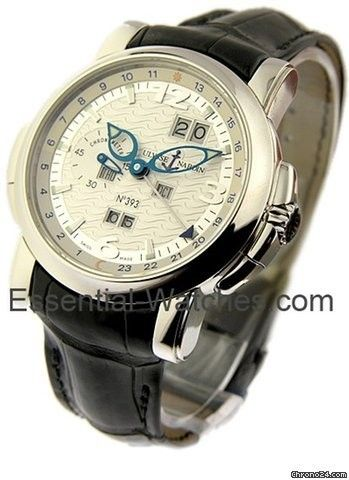 Ulysse Nardin GMT Perpetual 42mm in Platinum - Platinum on Strap with Sonata Case Limited to 500 Pcs