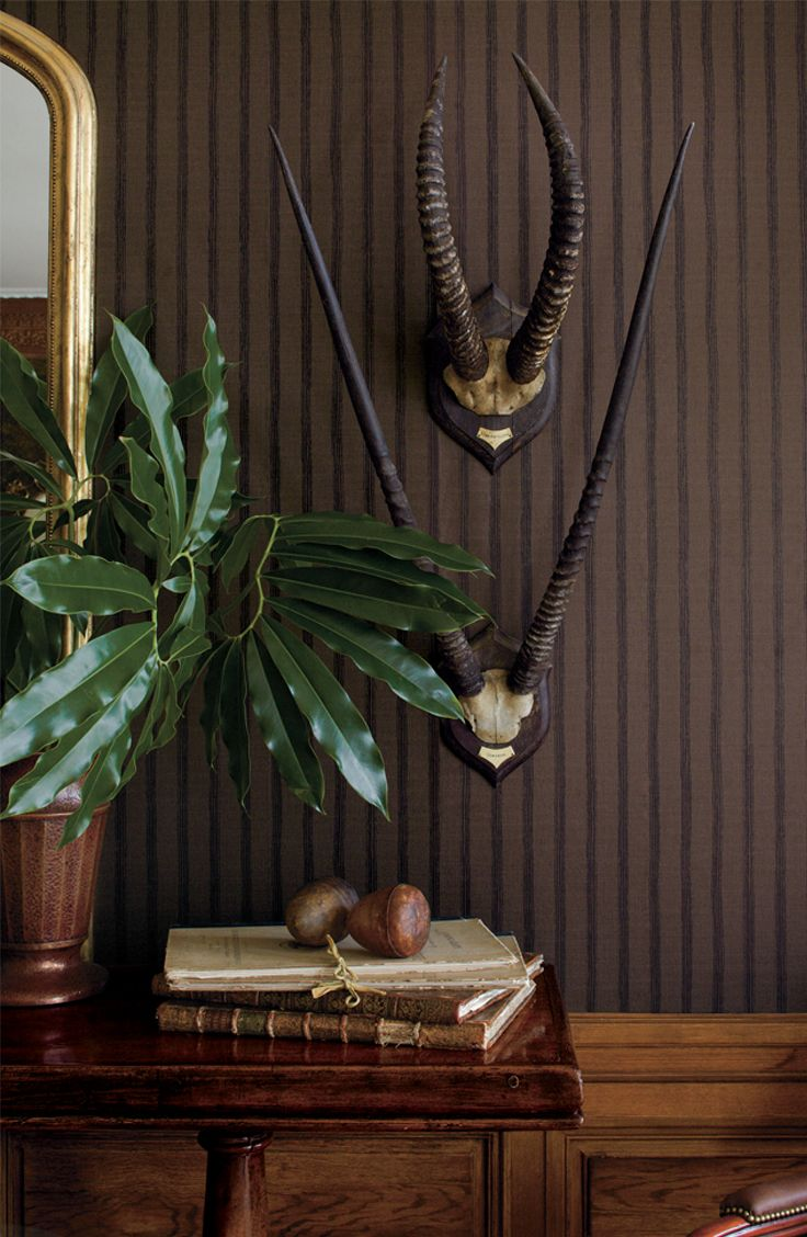 Ralph Lauren Home Tanzania Stripe wallcovering captures the spirit of exotic travel and adventure