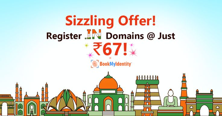 Simply WOW Offer - Book .IN Domains @ Just Rs 67!  Don't hold yourself back for anything! It's time to save a bomb on .IN Domain at just Rs 67 FLAT!