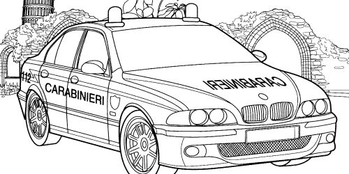 police car coloring pages career study pinterest police cars