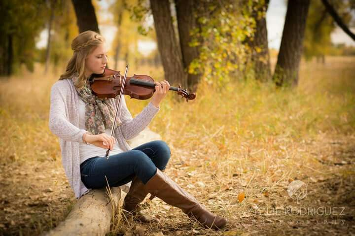 Senior picture with violin