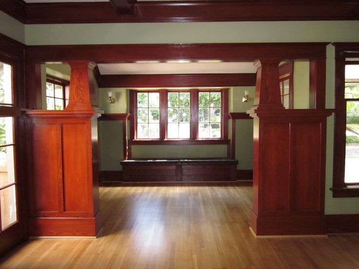 1912 Craftsman Living Room / Parlor   Interesting Way To Separate Rooms