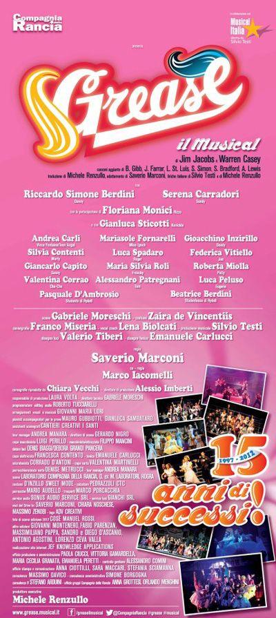 La locandina di questa nuova edizione di Grease in Italia
