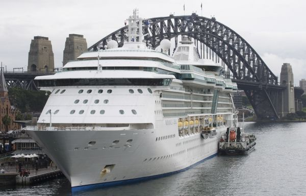 Radiance of the Seas docked at Sydney Harbour in Sydney, Australia. Start of our holiday