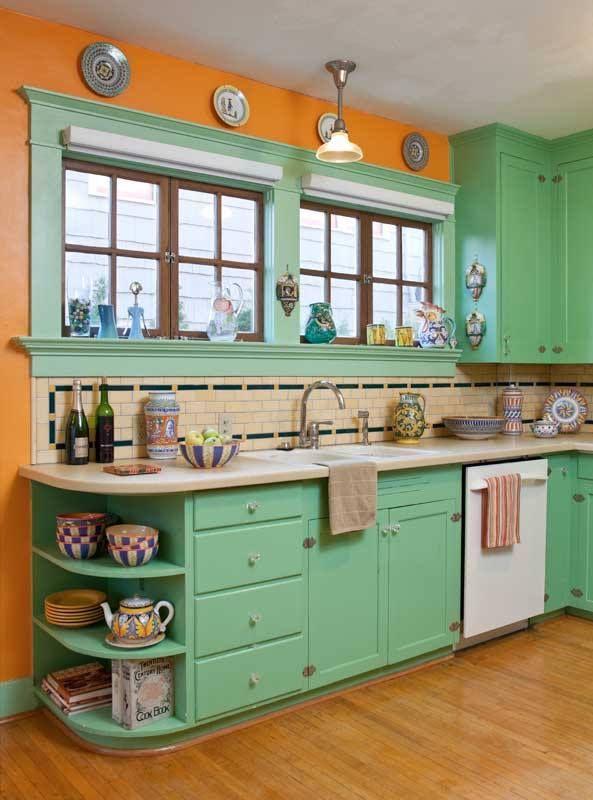 orange and green kitchen decor Best 25+ 1940s kitchen ideas on Pinterest | 1940s home