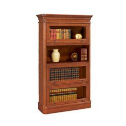 "Glass Door Barrister Bookcase - 32674 and more Bookcases  NATIONAL BUSINESS FURNITURE:   Dimensions:  42""W x 16""D x 72""H  Weight:  215 lbs.  Lifetime Guarantee  Constructed of select hardwoods, wood products, and cherry veneers  Four flipper recessed glass doors  $1,149 for item # 32674"