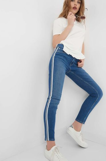 orsay jeans skinny jeans with side stripe mywork