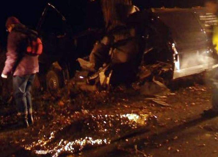 Do tragedii doszło w niedzielę około godz. 22.30. Volkswagen z niewyjaśnionych przyczyn zjechał na pobocze i uderzył w drzewo. Dwie osoby zginęły na miejscu. Trzecia w ciężkim stanie została zabrana do szpitala.