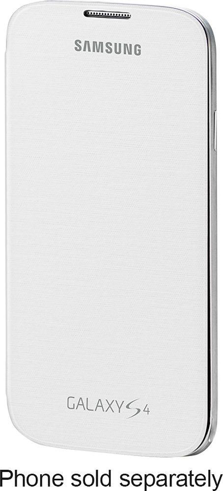 Samsung - Flip-Cover Case for Samsung Galaxy S 4 Mobile Phones - White, SAMSUNG GS 4 FLIP COVER WHITE