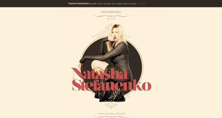 Website #NatashaStefanenko Design by #AwdAgency