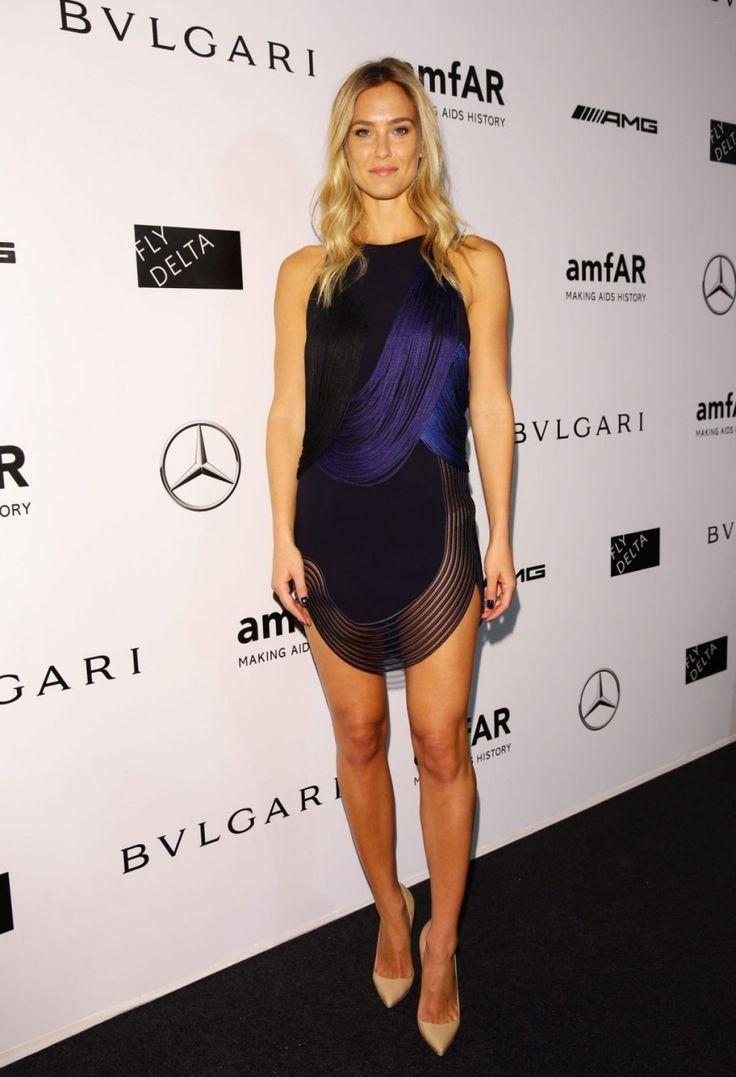 Bar Refaeli.. Stella McCartney Spring 2014 'Greta' dress, and nude patent Christian Louboutin pumps..... - Celebrity Fashion Trends
