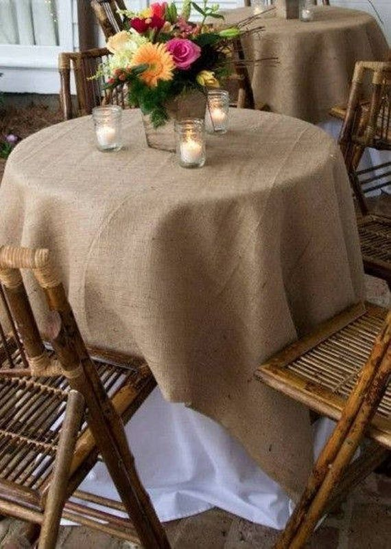 One High Quality Rustic Country Jute Burlap Table Cover Etsy In 2020 Burlap Tablecloth Rustic Wedding Decor Wedding Tablecloths