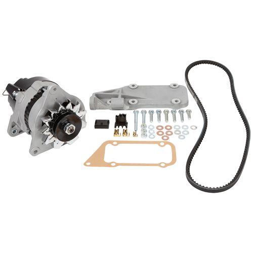 Whether you'd like to add a supplementary fan to your Austin Healey's fresh air system, install a radio, power up some halogen headlamps, or simply upgrade your charging systems long term durability, converting your Healey from a generator to an alternator will be essential. Our complete alternator conversion kit makes that a simple process.