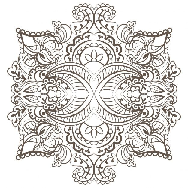 Free vector Black and white ornamental background #1989