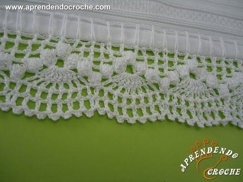 Barrado de Croche Dançarinas - Aprendendo Crochê - YouTube