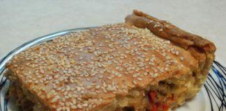 Πιπερόπιτα με κοτόπουλο και τυρένια ζύμη