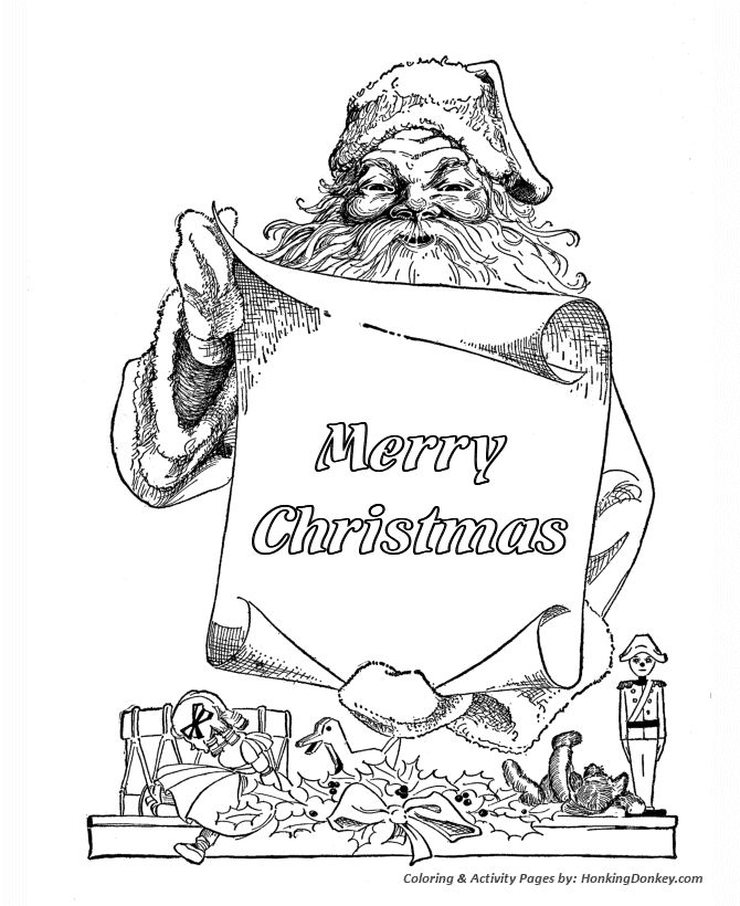 17 Best Images About Christmas Coloring Pages On Pinterest Merry Santa Coloring Pages