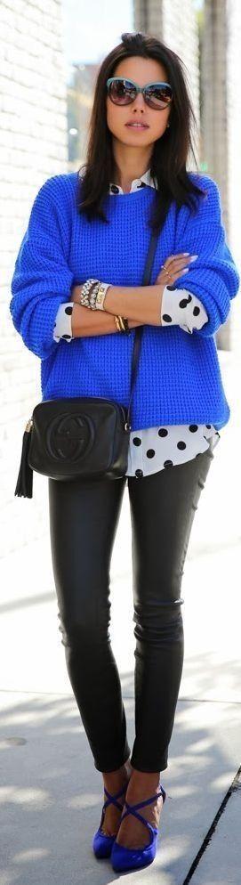 Cobalt Blue n Black Leather