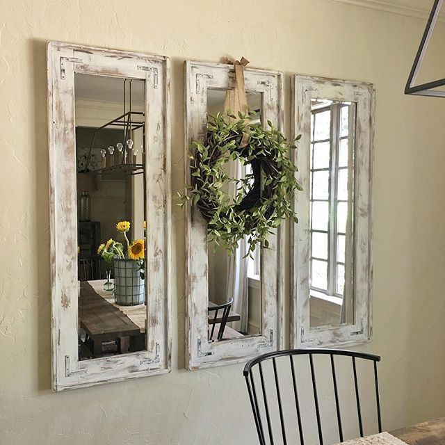 SOOO Many Questions About My Mirrors... So Here We Go. I Bought 3 Cheapu2026 |  DIY Home Decor | Pinterest | Dining Room Mirrors, Frameless Mirror And Dark  ...