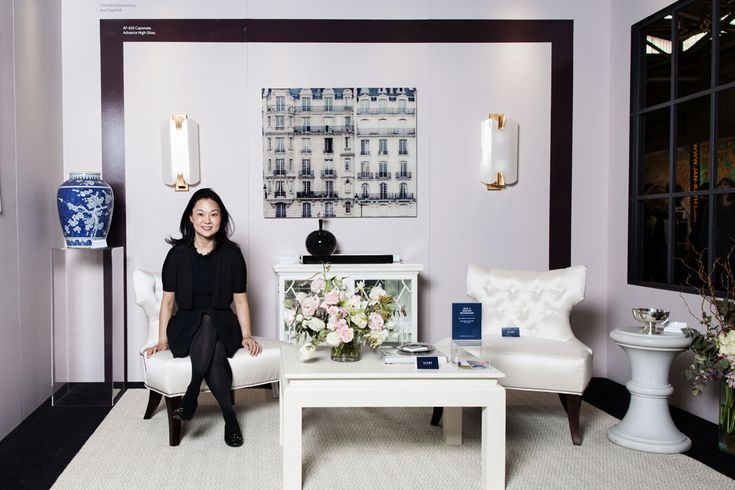 The Year's Top Trends in Home Decor Interior designer Young Huh in the vignette she designed for the Viyet + Benjamin Moore booth at the 2015 AD Home Design Show. Photographed by Chad Davis