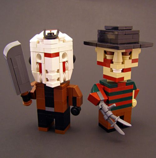 Lego design (Jason Voorhees and Freddy Krueger) #horror #f13