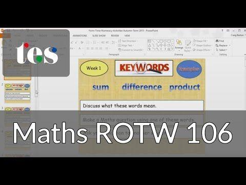 Developing Maths Vocabulary - TES Maths ROTW 106 - Mr Barton Maths Blog