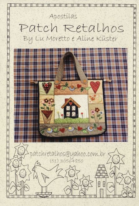 Bag with applique and embroidery