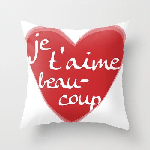 Je T'aime Pillow Cover - Red Heart - Home Decor - Love - Valentines Day Pillow -  By Aldari Home by AldariHome on Etsy https://www.etsy.com/listing/174034446/je-taime-pillow-cover-red-heart-home