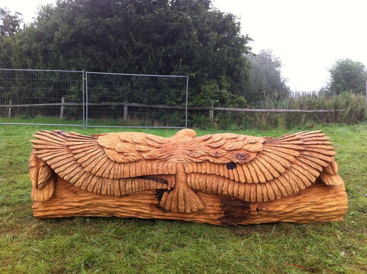 Oak owl bench chainsaw carving tommy craggs sculpture