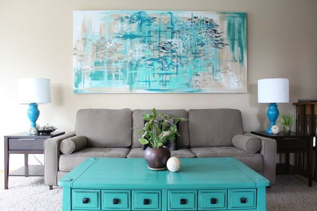 make large canvas wall art for 14, crafts, diy, living room ideas, painting, wall decor