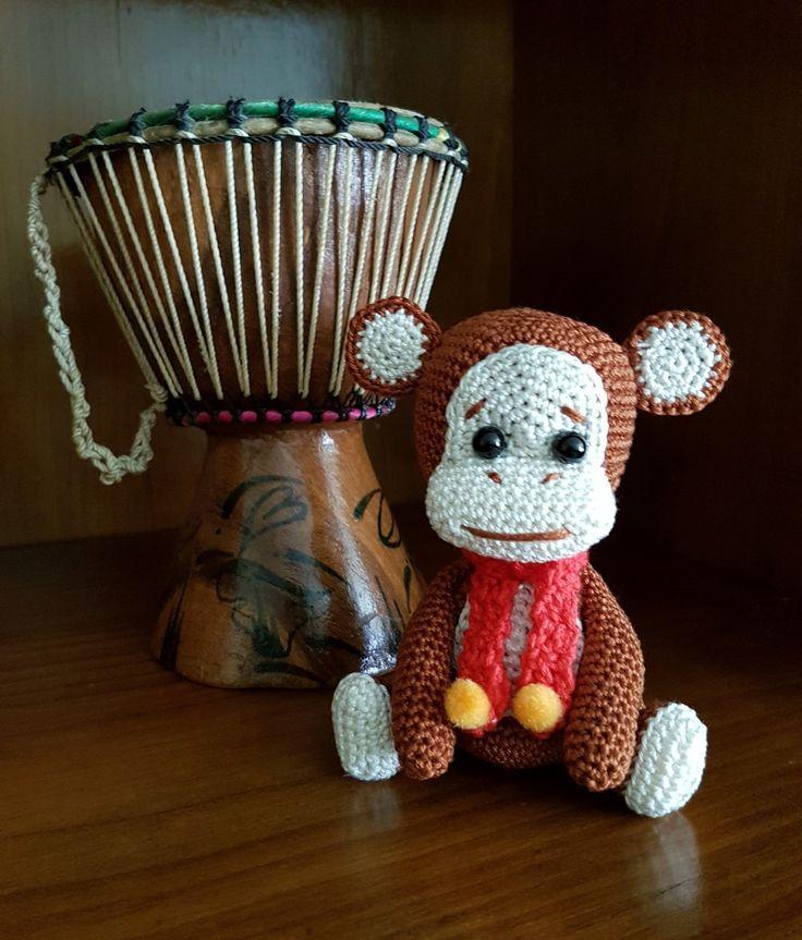 Macaco; Monkey; Amigurumi