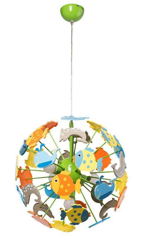 Lustre enfants animaux de la mer 5 éclairages - MW-Light