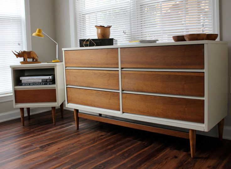 MidCentury Dresser Set Reproduction by RevitalizedArtistry on Etsy, $2,250.00