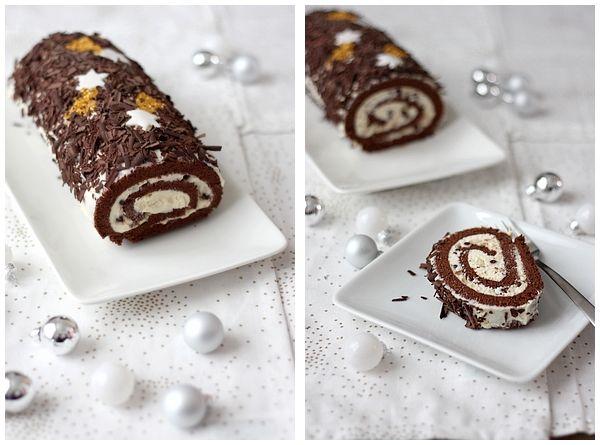 Bûche de Noël Chocolat - Mascarpone